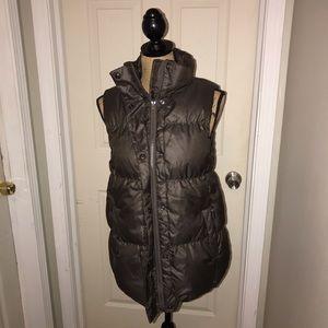 🌴 Gap Women's Brown Puffer Vest Sz M Tall